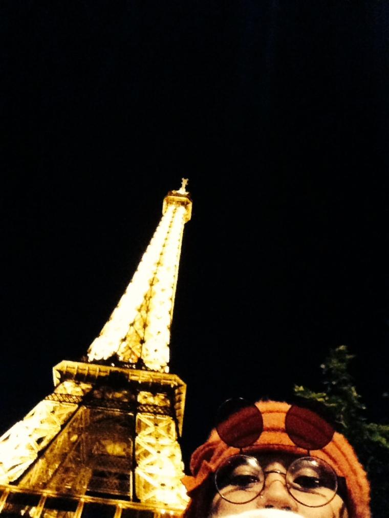 Selfie with Eiffel!