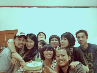 Celebrating Miku's Birthday (Saka, Tasya, Dhika, Ezra, Yudhis, Trisca, Poeti, Resi)