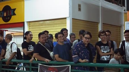 The crowd. Spotted Mondo Gascaro