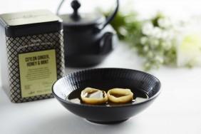 Silver Jubilee Ceylon Ginger, Honey & Mint Tea Consomme With Confit Duck Leg Tortellini