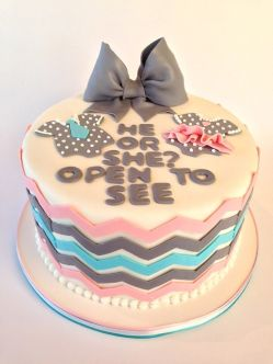 Baby Reveal Cake. Taken from Pinterest