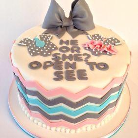 Baby Reveal Cake. Taken from Pinterest