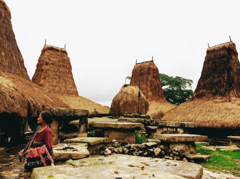 Salah satu kampung adat di Sumba