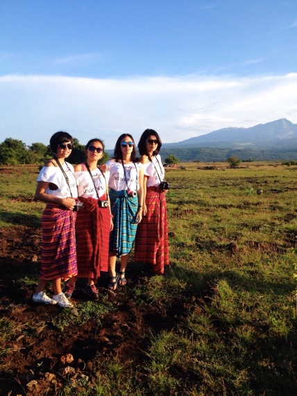 With Satya, Dayu, Yovita the IndTravel's girls