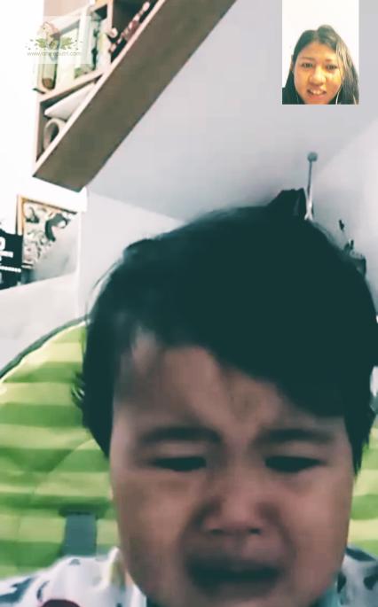 Bad timing: video call pas anak baru mau makan